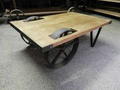 Coffee and console tables - Vintage industrial metal and wood furniture restored and made in england to last forever
