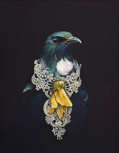 She Of The Kowhai Tree by Jane Crisp - Art Prints New Zealand Nz Art, Art For Art Sake, Tui Bird, Maori Designs, New Zealand Art, Maori Art, Kiwiana, Bird Art, Art Inspo