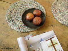 Podkładki na stół Messy - zestaw - zapleciona - Podkładki i serwetki Etsy, Paper, Hanging Hats, Vases
