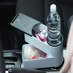 Travelstack  Travelstacks Adds Storage to your Car's Cupholders.
