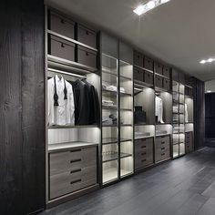 closets ideas | Sleek Modern Dark Wood Closet Ideas For Bachelor Pads