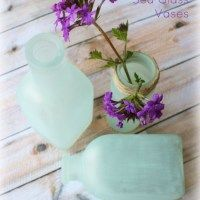 DIY Sea Glass Vases  Awesome website! Tons of decorating ideas and inspiration