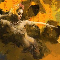 Sexy arabian women during wild dance pity, that
