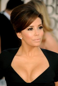 French Twist Lookbook: Eva Longoria wearing French Twist (29 of 36). Eva never ceases to disappoint on the red carpet. The actress gave her plunging neckline the perfect finishing touch with a classic French twist.
