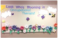 Our Occupational Therapy Bulletin board spring! www.toolstogrowot.com