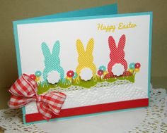 A Papertrey Ink card by Melissa Bickford using Polka-dot Parade stamp set. Cricut Cards, Stampin Up Cards, Holiday Cards, Christmas Cards, Diy Ostern, Creative Cards, Greeting Cards Handmade, Easter Crafts, Scrapbook Cards