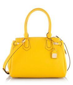 Carlyle Satchel - Yellow   Handbags   Henri Bendel