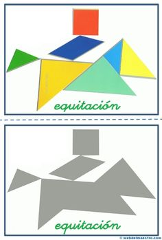 Tangram | Figuras para imprimir online Preschool Activities, Origami, Quilts, Education, Logos, Projects, Pattern, Google, Kids Math