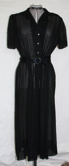 Vintage Dress Black Sheer Dress with by ilovevintagestuff on Etsy