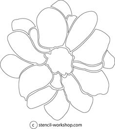 flower stencil for walls