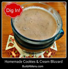 Homemade Oreo Cookie Blizzards