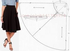 Need Some Sewing Patterns? Clone Your Clothes - Sewing Met Circle Skirt Pattern, Circle Skirt Tutorial, Fashion Sewing, Diy Fashion, Dress Sewing Patterns, Diy Dress, Apparel Design, Hijab Fashion, Diy Clothes