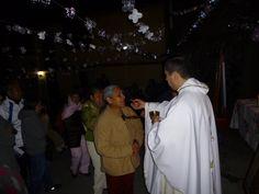 Acompañando a mis hermanos de la capilla de la Virgen de Guadalupe en su 2° día de novenario.