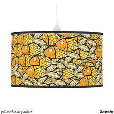 yellow fish hanging lamp