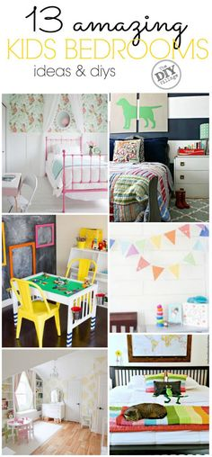 13 amazing kids bedroom ideas and diys. from big, little, to baby there is something for everyone!
