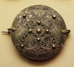 Late Anglo-Saxon Silver Disc Brooch (9th century)