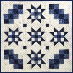 Free Pattern - Winter Stars Quilt by Celine Perkins