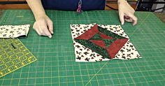 Using the magic of tube sewing, Jenny from the Missouri Star Quilt Company creates a beautiful double hourglass, set on point!