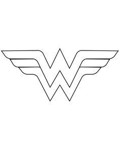 wonder woman logo template cut out coloring page more superhero