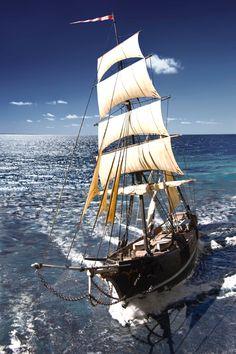 Sailing the high seas! Moby Dick, Old Sailing Ships, Yacht Boat, Sail Away, Set Sail, Wooden Boats, Tall Ships, Ship Art, Salt And Water