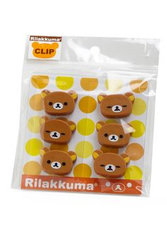 My sister bought these for me. so nice of her - I love Rilakkuma! Such cute clips.
