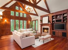 Do you have a space with a #vaultedceiling? Check out our #tips for #lighting it! #lightingtips