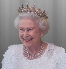 Queen Elizabeth wearing Queen Mary's Girls of Great Britain and Ireland Tiara | Royal Collection Trust
