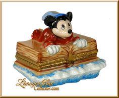 Mickey Mouse Sorcerer FANTASIA  Walt Disney Limoges Box by Artoria www.LimogesBoxCollector.com