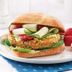 Vegetarian hamburger with white beans Vegan Burgers, Salmon Burgers, Healthy Cooking, Healthy Eating, Caesar Pasta Salads, Vegetarian Recipes, Healthy Recipes, Vegan Blueberry, White Beans