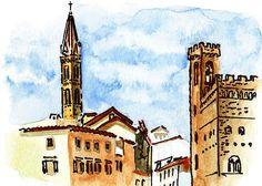 'Sketching Italy Florence Towers' - http://irina-sztukowski.artistwebsites.com/featured/sketching-italy-florence-towers-irina-sztukowski.html