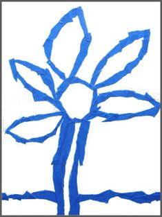Tape reist flower project • Artchoo.com