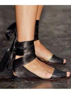 Snake skin Flats by Victoria  Beckham