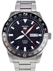 Seiko 5 Sports Automatic Watch with a Rotating Compass Bezel #SRP669K1