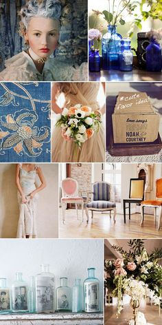 Moodboard Monday // Blue and Orange