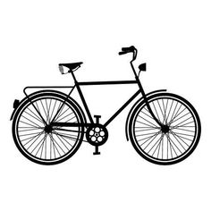 - Millions of Creative Stock Photos, Vectors, Videos and Music Files For Your Inspiration and Projects. drawing Retro bike silhouette concept, isolated bicycle outline on white. Bike Silhouette, Silhouette Images, Vintage Cycles, Vintage Bikes, Vertical Bike Storage, New Dirt Bikes, Bike Sketch, Retro Bike, Bike Photography