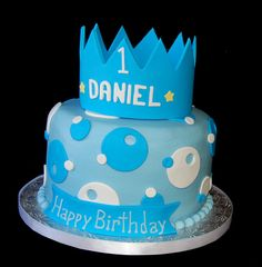 1st birthday crown prince themed cake by Simply Sweets, via Flickr