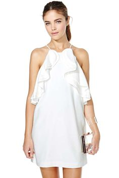 Cameo white dress back in stock