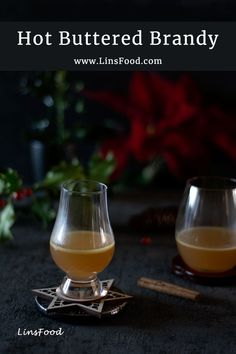 Hot Buttered Brandy, with hints of vanilla, the perfect winter drink to warm away all those chills! Brandy Cocktails, Cocktail Drinks, Alcoholic Drinks, Cocktail Recipes, Winter Drinks, Cold Drinks, Fancy Drinks, Holiday Drinks