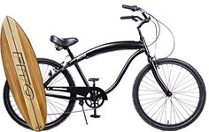 Special Offers - Anti-Rust Aluminum frame Fito Modena II Alloy Shimano 7-speed  All Matte Black mens 26 Beach Cruiser Bike - In stock & Free Shipping. You can save more money! Check It (September 02 2016 at 04:35PM) >> http://cruiserbikeswm.net/anti-rust-aluminum-frame-fito-modena-ii-alloy-shimano-7-speed-all-matte-black-mens-26-beach-cruiser-bike/