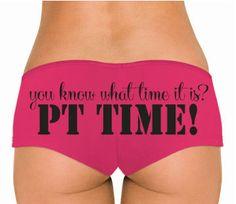PT panties. military underwear. pink undies for usmc navy army usaf uscg. $16.00, via Etsy.