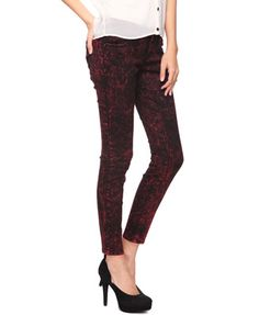 Mineral Wash Skinny Jeans | FOREVER 21 - 2002930144