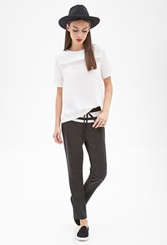 Pinstripe Athletic Trousers | FOREVER 21 - 2000058264