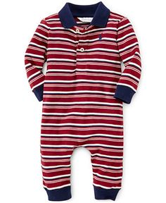 Ralph Lauren Baby Boys' Striped Coverall - Baby Boy (0-24 months) - Kids & Baby - Macy's