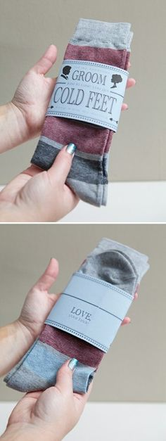 Groom's gift–clever! AND MY HAND S TO WARM YOUR FEET EVERY NIGHT ....