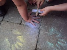 Lots of fun outdoor play ideas here. I especially love the chalk handprint idea~ clever! How do your kids play with chalk? Come and join our One Added Ingredient project and tell us -> https://www.facebook.com/NurtureStore