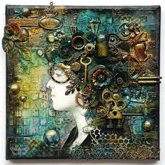 Once Upon a Time - mixed-media collage