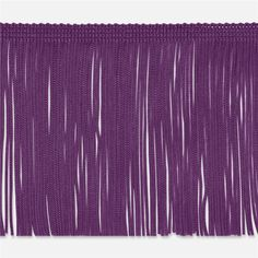 """2"""" Chainette Fringe Trim Purple from @fabricdotcom  This  fringe is a beautiful finishing touch on pillows, draperies, costumes and more. It features a 3/8'' header and 2'' long fringe."""