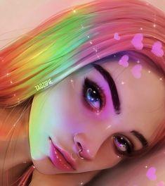 Ideas Drawing People Cartoon Girls Posts For 2019 Digital Art Girl, Digital Portrait, Portrait Art, Realistic Drawings, Cute Drawings, Girl Cartoon, Cartoon Art, Cartoon Characters, Pretty Art