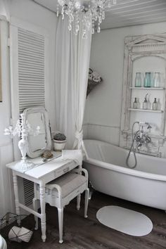 Shabby Chic Dressing Table and Tub Shelving