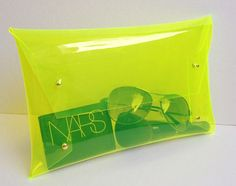 Big Casual Transparent Clear Clutch Bag,Casual Transparent Clear Purse,Transparent Clear,Bag,Clutch ,Bag ,Purse (Big Size):Gold accessory